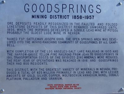 Goodsprings Marker image. Click for full size.