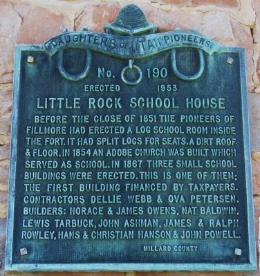 Little Rock Schoolhouse Marker image. Click for full size.