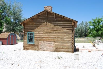 South side of restored cabin image. Click for full size.