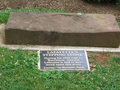 Lafayette's Stepping Stone Marker image. Click for full size.