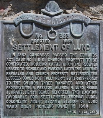 Settlement of Lund Marker image. Click for full size.