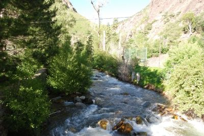 Big Cottonwood Creek (source of water) image. Click for full size.