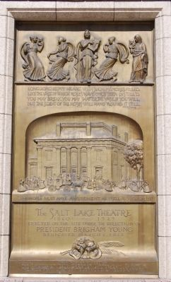 The Salt Lake Theatre Marker image. Click for full size.