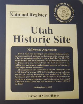 Hollywood Apartments Marker image. Click for full size.