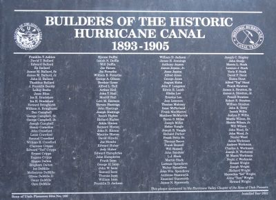 Builders of the Historic Hurricane Canal, 1893-1902 image. Click for full size.