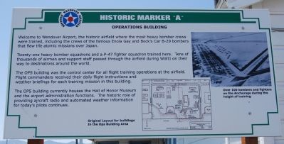 Historic Marker 'A': Operations Building image. Click for full size.
