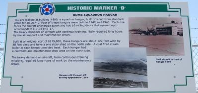 Bomb Squadron Hangar Marker image. Click for full size.