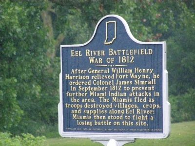 Eel River Battlefield - War of 1812 Marker image. Click for full size.