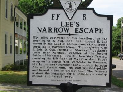 Lee's Narrow Escape Marker image. Click for full size.