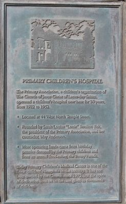 Primary Children's Hospital Marker image. Click for full size.
