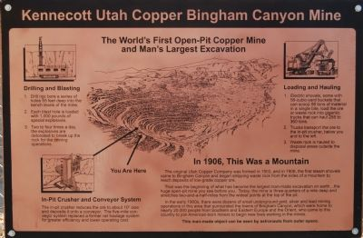 Kennecott Utah Copper Bingham Canyon Mine image. Click for full size.