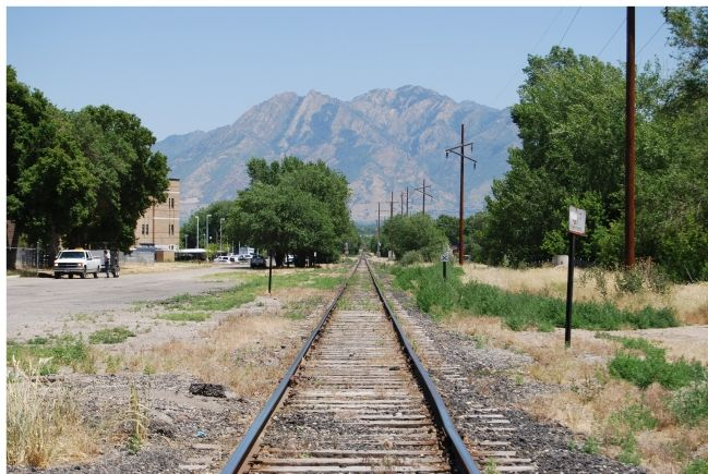 Railroad Track on the Salt Lake & Utah Former Right of Way image. Click for full size.