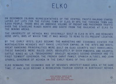 Elko Marker image. Click for full size.