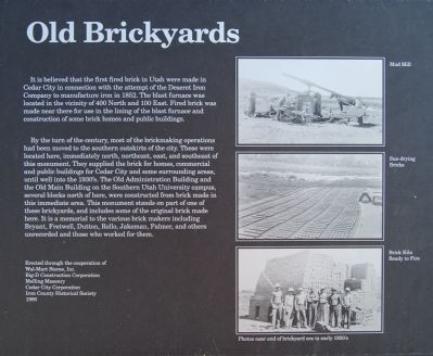 Old Brickyards Marker image. Click for full size.