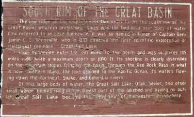 South Rim of the Great Basin Marker image. Click for full size.