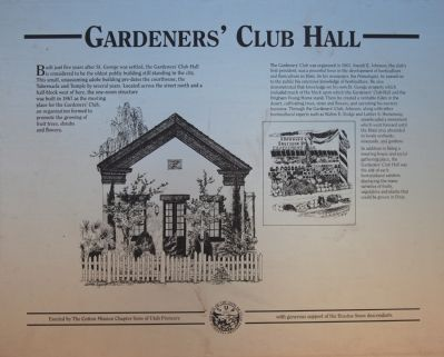 Gardeners' Club Hall Marker image. Click for full size.