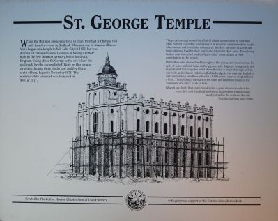 St. George Temple Marker image. Click for full size.