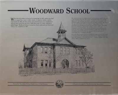 The Woodard School Marker image. Click for full size.