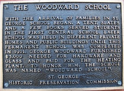 The Woodward School Marker image. Click for full size.