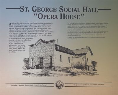 "St. George Social Hall ""Opera House"" Marker image. Click for full size."