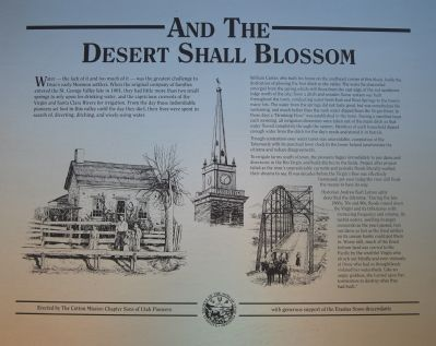 And the Desert Shall Blossom Marker image. Click for full size.
