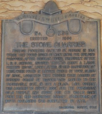 The Stone Quarries Marker image. Click for full size.