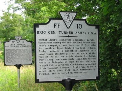 Brig. Gen. Turner Ashby, C.S.A. Marker image. Click for full size.
