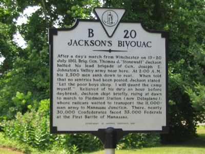 Jackson's Bivouac Marker image. Click for full size.