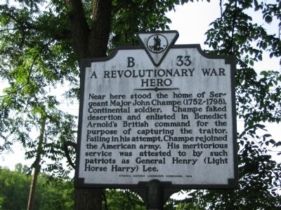 A Revolutionary War Hero Marker image. Click for full size.