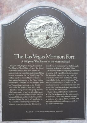 The Las Vegas Mormon Fort Marker image. Click for full size.
