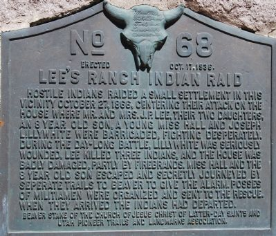 Lee's Ranch Indian Raid Marker image. Click for full size.