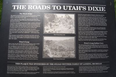 The Roads to Utah's Dixie Marker image. Click for full size.