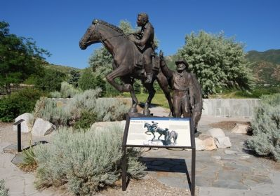 National Pony Express Monument and Marker image. Click for full size.