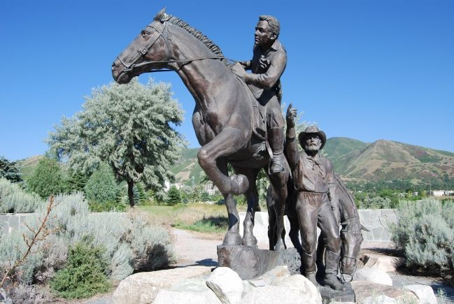Pony Express Monument, by Avard Fairbanks image. Click for full size.