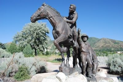 The Pony Express Monument image. Click for full size.