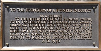 To the Founders of a Pioneer Industry image. Click for full size.