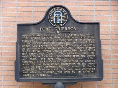 Fort Grierson Marker image. Click for full size.