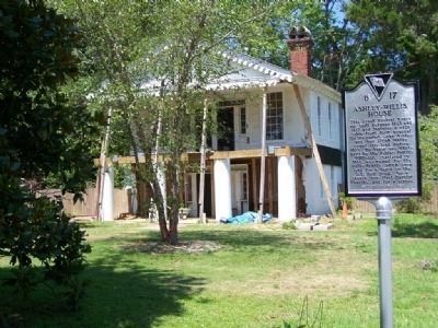 Ashley ~ Willis House, restoration in 2008, and Marker image. Click for full size.