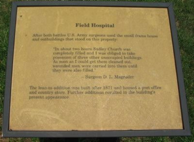 Field Hospital Marker image. Click for full size.