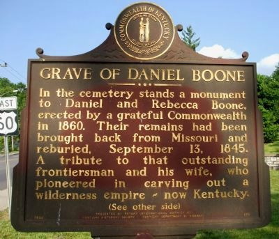 Grave of Daniel Boone Marker image. Click for full size.
