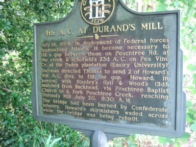 4th A.C. at Durand's Mill Marker image. Click for full size.