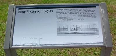 Four Powered Flights Marker image. Click for full size.