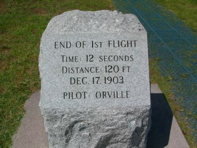End of 1st Flight Marker image. Click for full size.