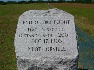 End of 3rd Flight Marker image. Click for full size.