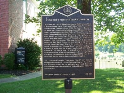 Pencader Presbyterian Church Marker image. Click for full size.