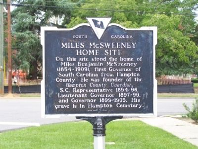 Miles McSweeney Home Site Marker image. Click for full size.