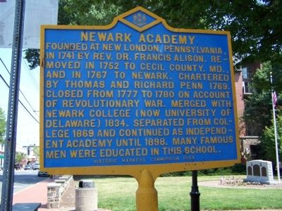 Newark Academy Marker image. Click for full size.