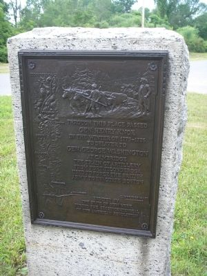 Gen. Henry Knox Trail Marker image. Click for full size.