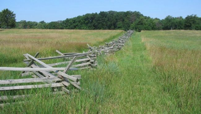 Fence Line Held by the 73rd Ohio image. Click for full size.