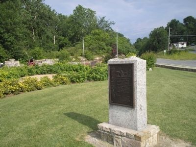 Knox Cannon Trail Marker in Ticonderoga image. Click for full size.